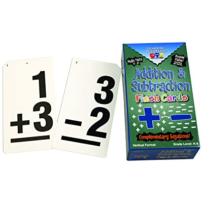 Learning Advantage Double Value Vertical Flash Cards: Toys & Games