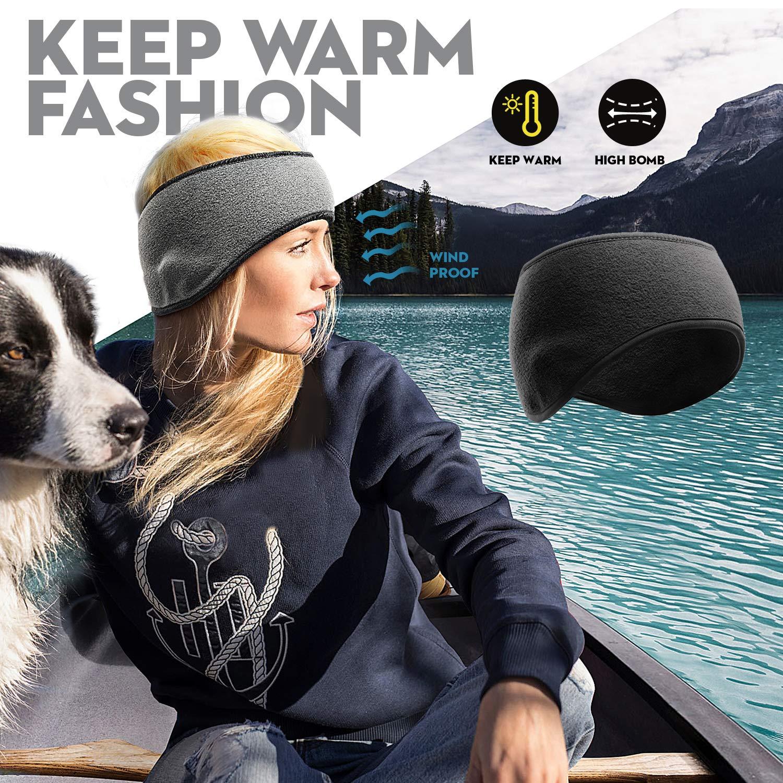 DASUTA Fleece Ear Warmers Muffs Winter Headband Stay Warm for Men Women Unisex Accessories ...