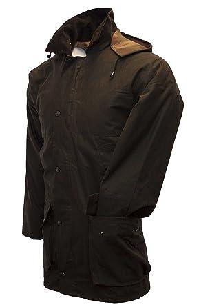 5e416e8e Walker & Hawkes - Mens Unpadded Wax Jacket Countrywear Hunting Waxed Coat -  Brown - X