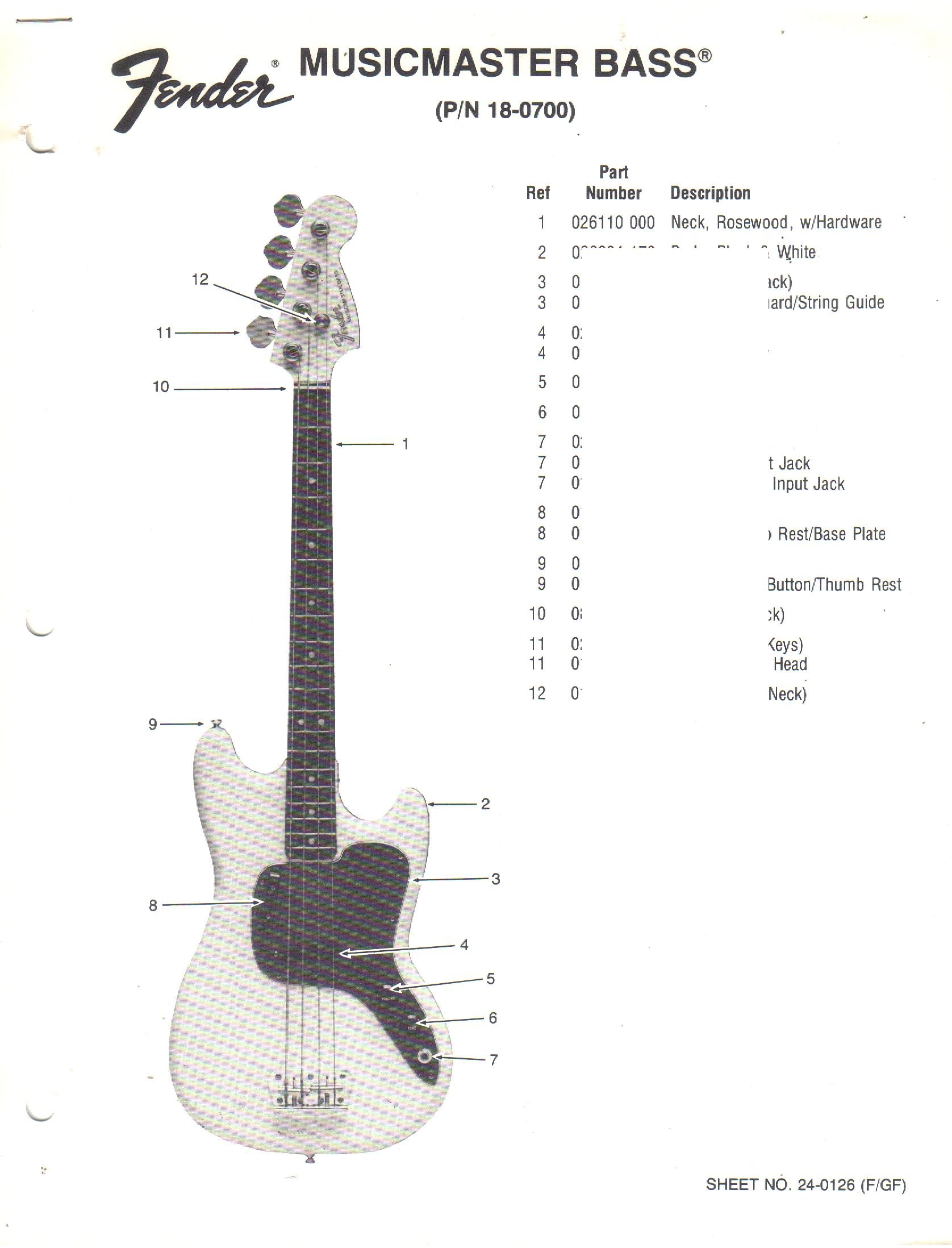 1978 Fender Precision Bass Wiring Diagram - Example Electrical ...