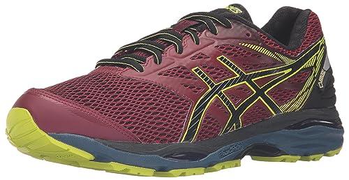ASICS Men's Gel-Cumulus 18 G-TX running Shoe, Pomegranate/Black/