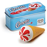Wooden Play Food - Pretend Play Grocery Shop - Ice Cream Cornetto Strawberry in a Tin by Erzi