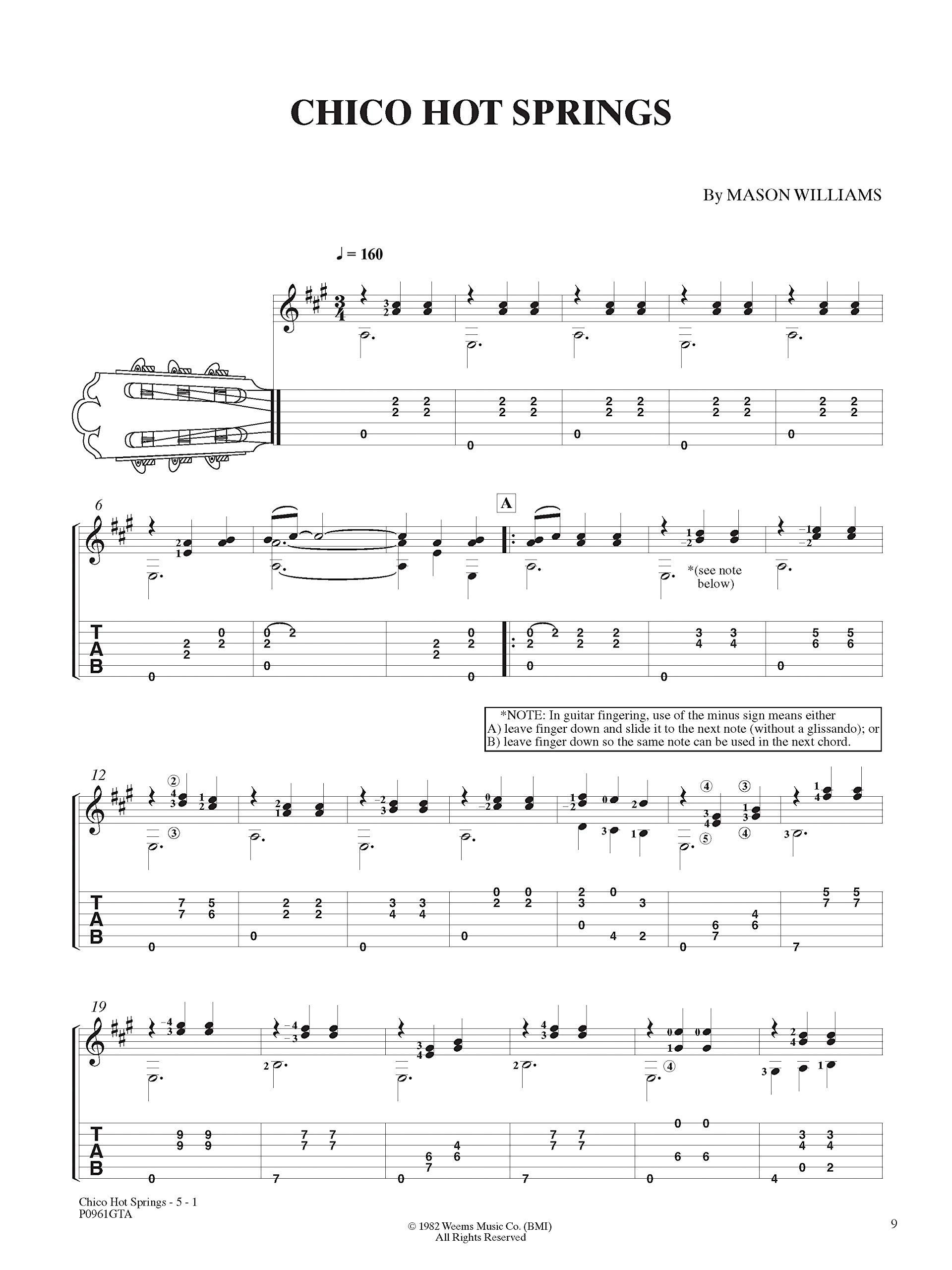 Classical Gas -- The Music of Mason Williams: Guitar Tab, Book ...