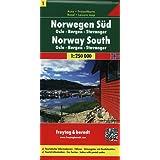 Norway South: FB.N01: Oslo, Bergen, Lillehammer. Norwegen 1. Touristische Informationen. Fähren. Ortsregister mit Postleitzahlen (Road Maps)