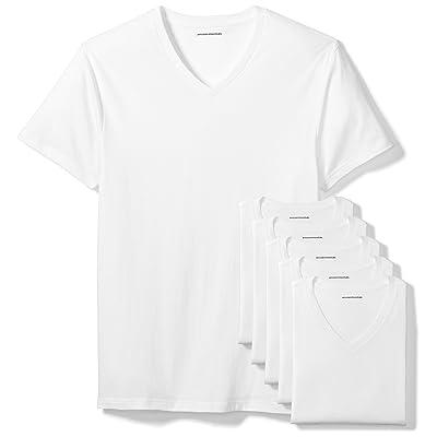 Amazon Essentials Men's 6-Pack V-Neck Undershirts: Clothing
