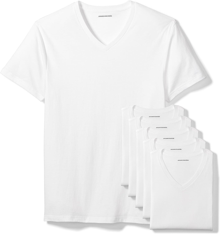 Amazon Essentials 6-Pack V-Neck Undershirts Undershirts Hombre (Pack de 6)