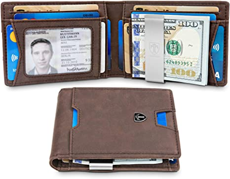 c85d421f831 TRAVANDO Slim Wallet with Money Clip RFID Blocking Wallet