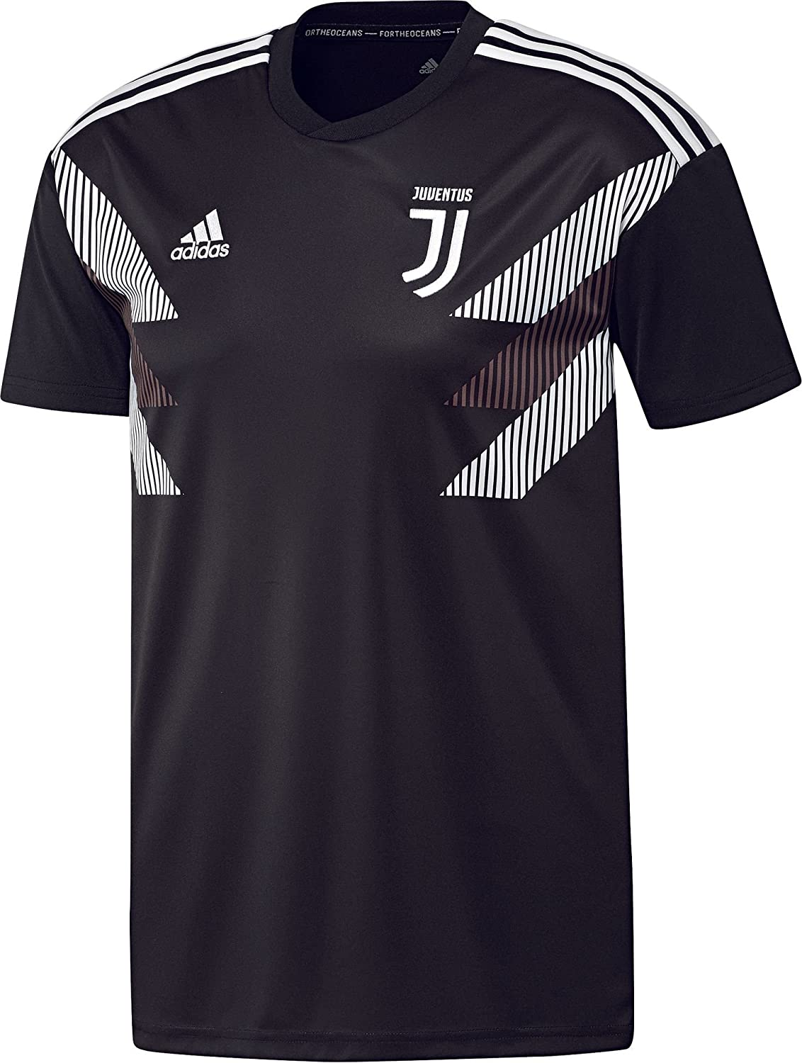 ce3ac8f90dd Amazon.com   adidas 2018-2019 Juventus Pre-Match Training Football Soccer T- Shirt Jersey (Black)   Sports   Outdoors