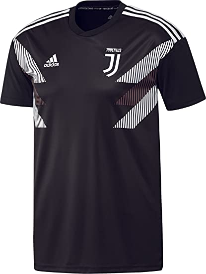 38cf7bf99c6 Amazon.com : adidas 2018-2019 Juventus Pre-Match Training Football Soccer T-Shirt  Jersey (Black) : Sports & Outdoors