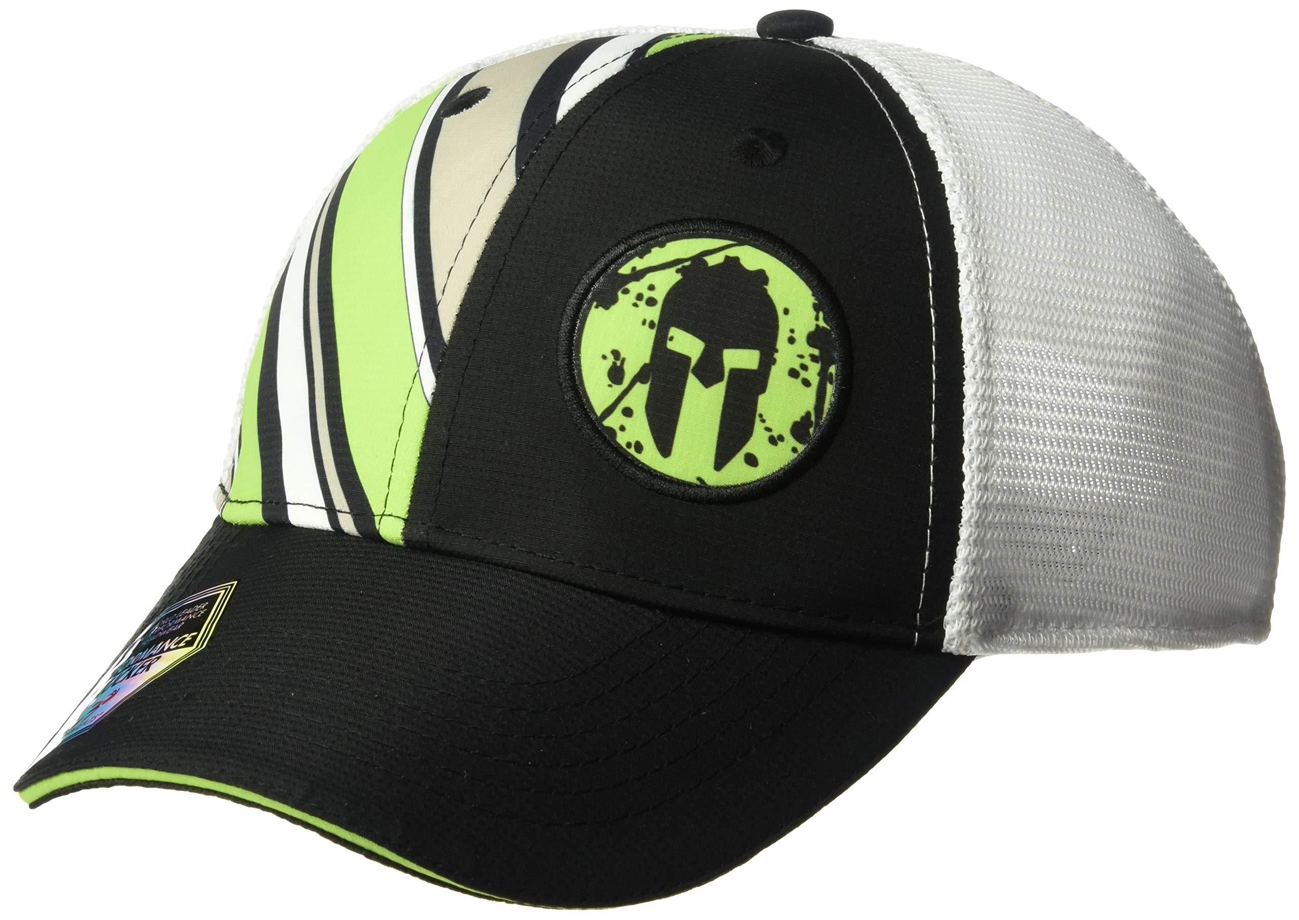 Headsweats Performance Trucker Hat, Green Stripes, One Size