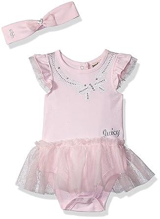 52c9eec09ee8 Amazon.com  Juicy Couture Baby Girls Tutu Bodysuit  Clothing
