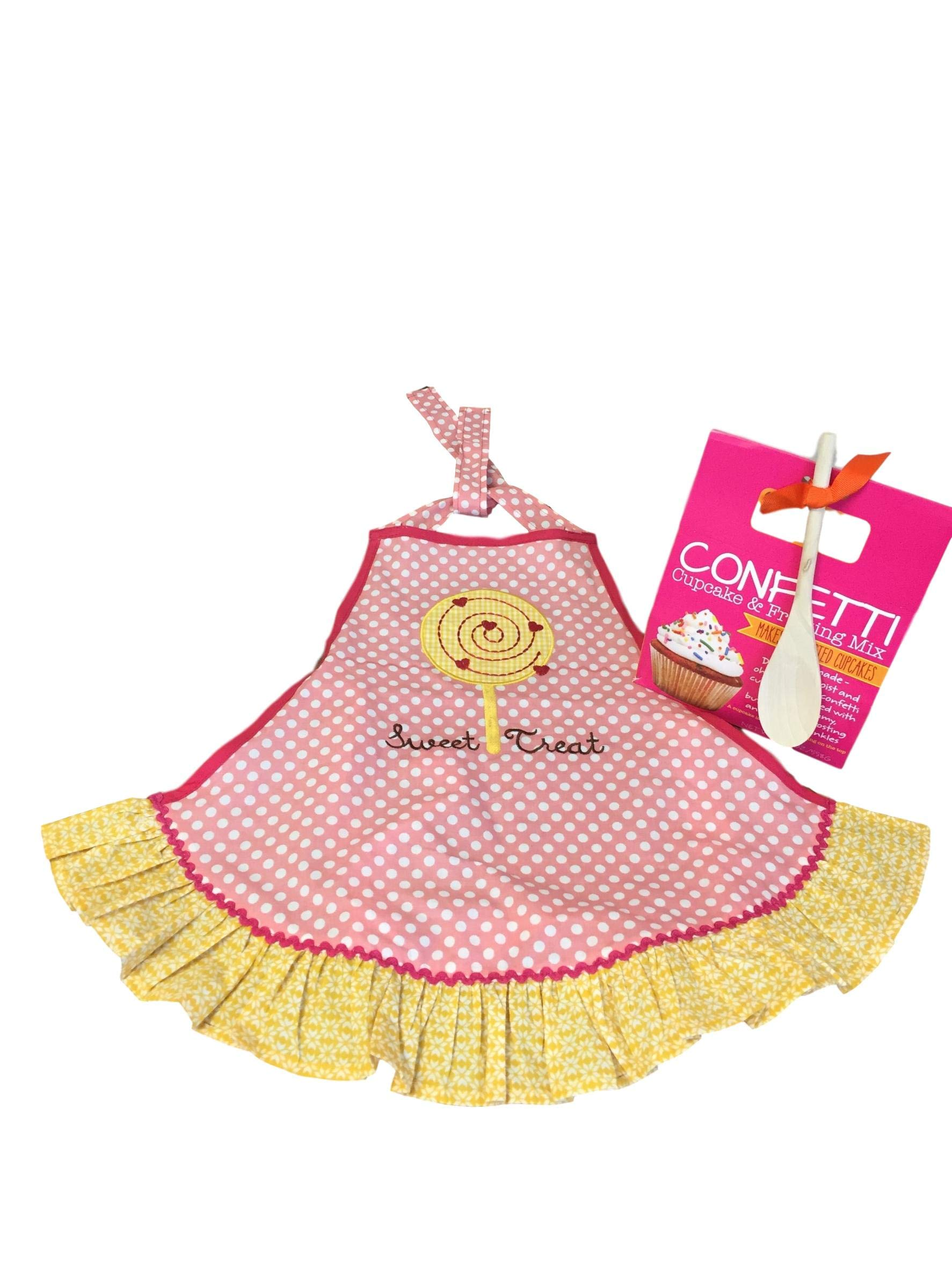 Baking Bundle with Girl's 'Sweet Treat' Apron and Confetti Cupcake & Frosting Kit by IOM (Image #1)