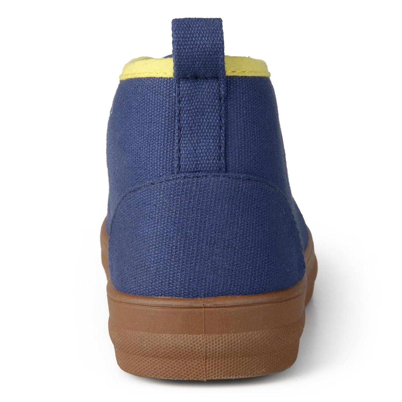 Brinley Kids Little Boy Contrast Stitching Fabric Desert Sneakers