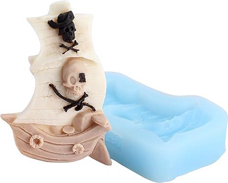 Moule /à g/âteau en silicone en forme de bateau pirate