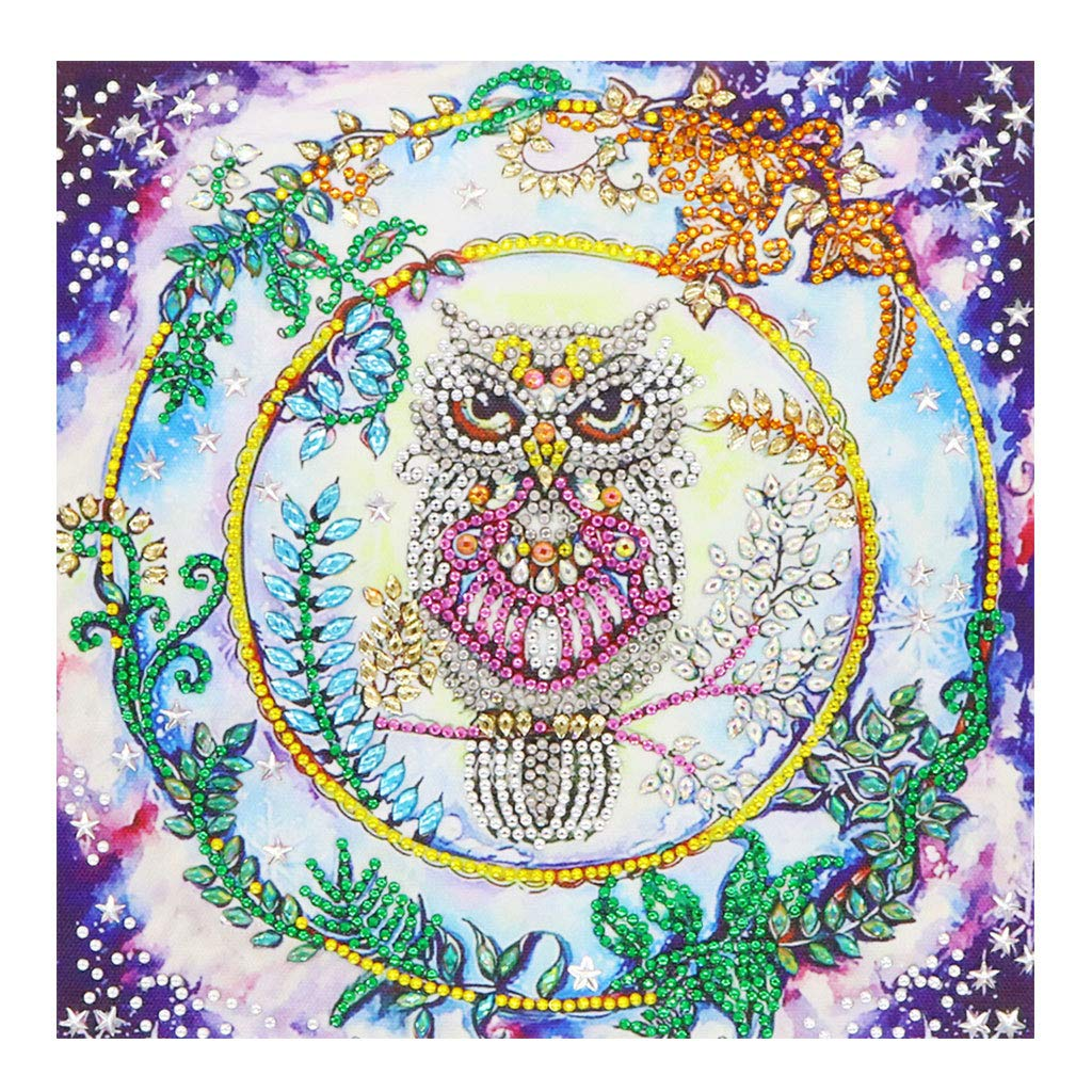 jovoreng Owl 5D Special Shape Diamond Painting Embroidery Needlework Crystal Cross Stitch Diamond Painting Christmas Arts Craft for Home Wall Decor