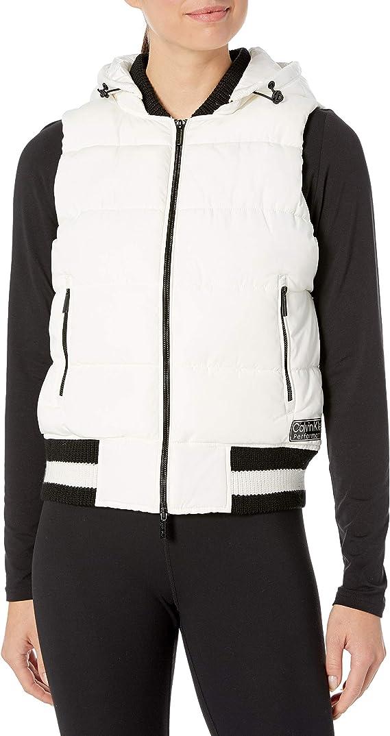 Calvin Klein 卡尔文克莱因 CK 女式连帽保暖马甲背心 L码2.7折$24.01 海淘转运到手约¥199