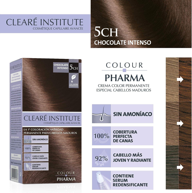 Colour Pharma  Tinte Sin PPD ni Amonicaco   Coloración Antiedad   100% Cobertura de Canas Rebeldes, Con Serum Redensificante   5CH. Chocolate Intenso ...