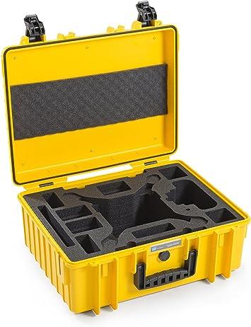 B/&W International 6000//Y//DJI4 Type 6000 Outdoor Camera Case with custom DJI4 Phantom insert Yellow