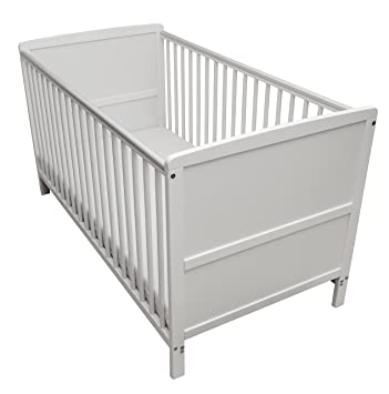 Kinder Valley Solid Pine Wood 2 In 1 Junior Cot Bed White