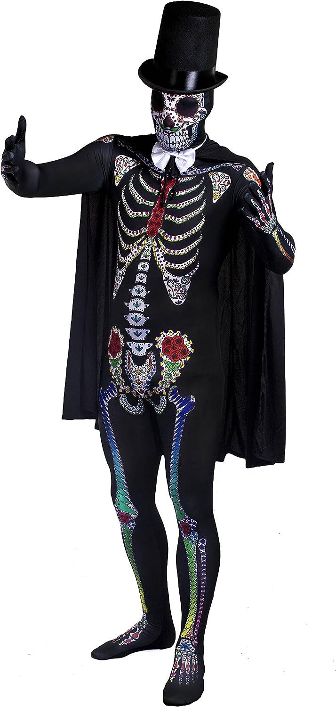 ILOVEFANCYDRESS - Disfraz de esqueleto de azúcar para hombre ...