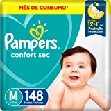 Fralda Pampers Confort Sec M - 148 fraldas