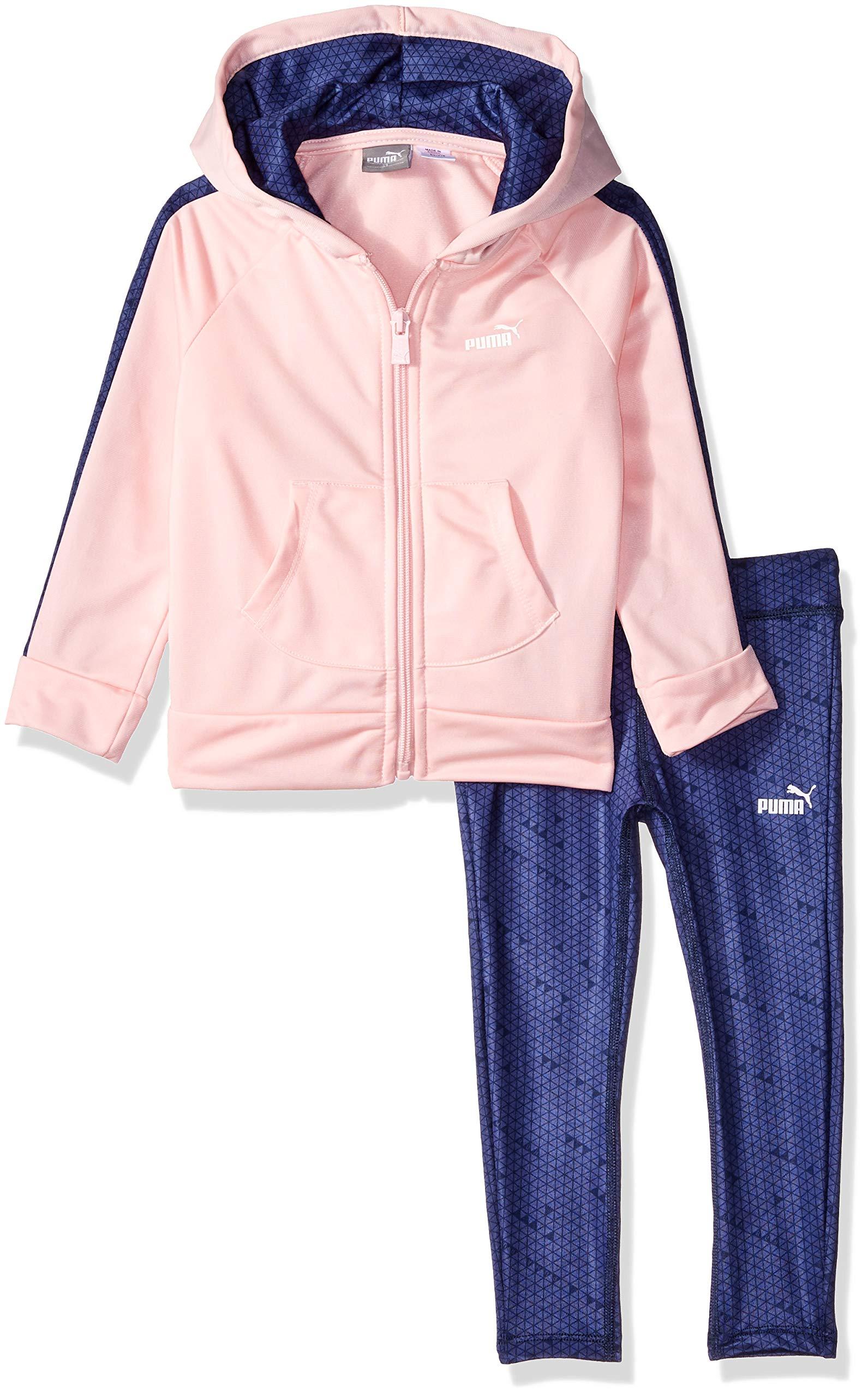 PUMA Toddler Girls' Track Jacket and Legging Set, Crystal Rose, 3T by PUMA