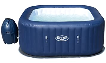Lay Z Spa Hawaii Hot Tub Airjet Square Inflatable Spa 4 6 Person