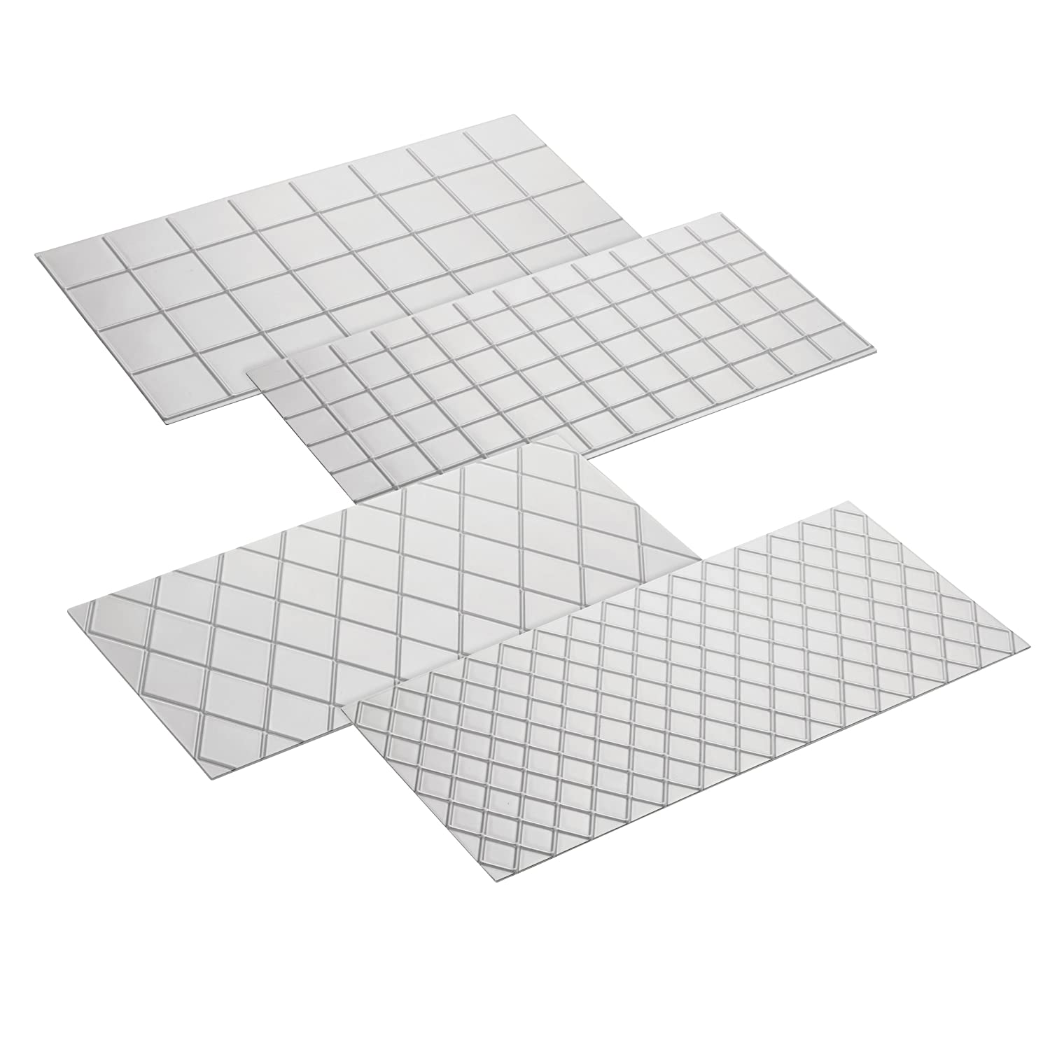 Cake Boss Decorating Tools 4-Piece Quilted Fondant Imprint Mat Set, Clear 59453