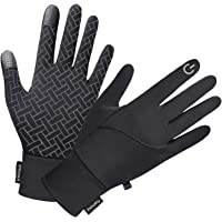 Winter Gloves for Men Women, Touch Screen Windproof Waterproof Cold Weather Warm Gloves for Running Cycling Hiking…