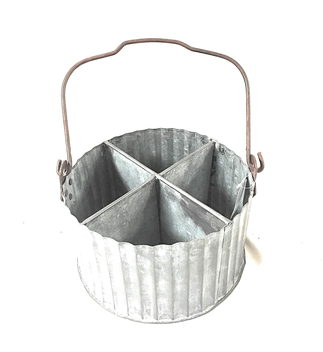 Corrugated Divided Caddy with Handle CTW Home Collection