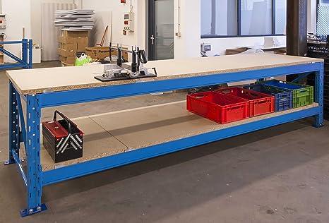 Tavolo Industriale Usato : Banco da lavoro bancone in metallo industriale professionale usato