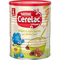 Nestle Cerelac Infant Cereal Wheat & Date Pieces, Tin pack, 400g