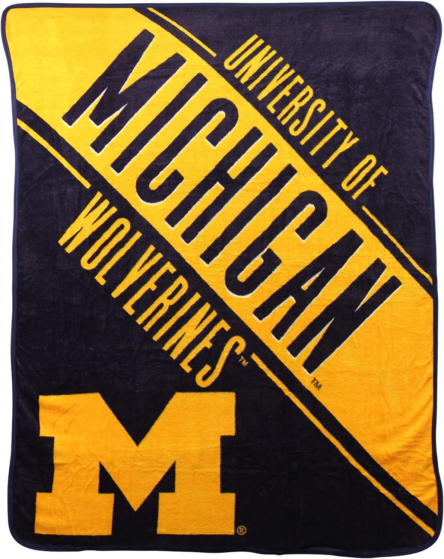 NCAA Collegiate Section Super Soft Plush Throw Blanket