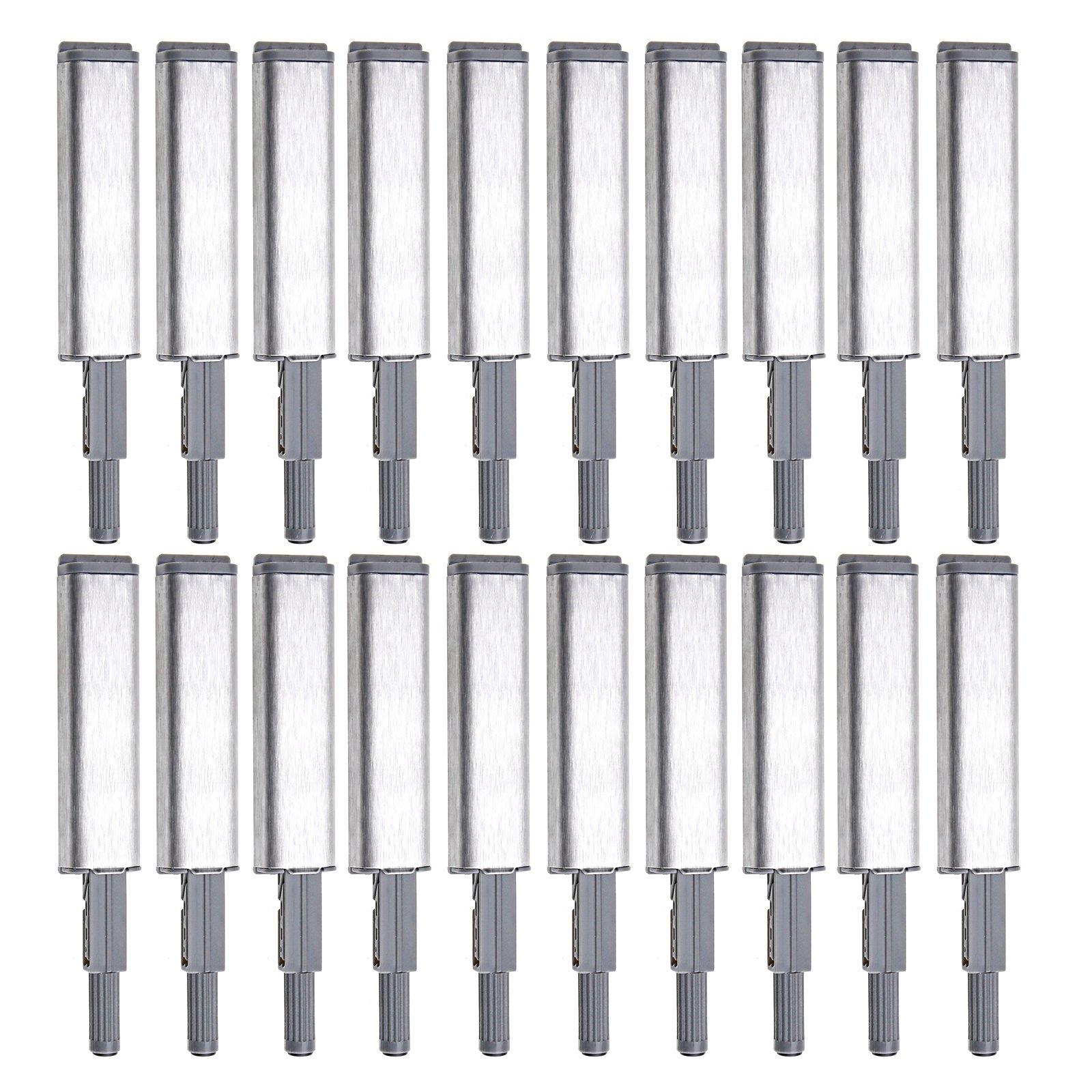 20x Cabinet Latch Door Drawer Push to Open System Damper Buffer Catch Set Kit