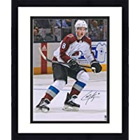 "$127 » Framed Cale Makar Colorado Avalanche Autographed 16"" x 20"" White Jersey Skating Photograph - Fanatics Authentic Certified"