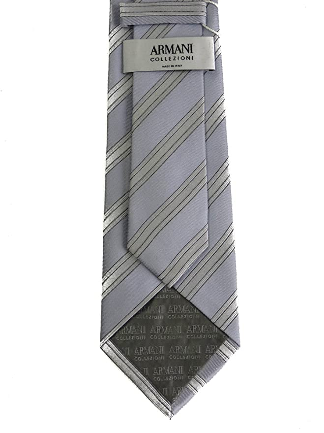 Armani - Corbata - para hombre Azul oscuro y blanco Talla única ...