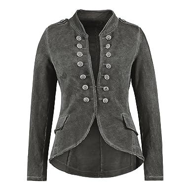 157b4864d530 H4F Damen Italy Admirals Military Sweatshirt Blazer Jacke Vintage (Farbe   Basalt  Größe