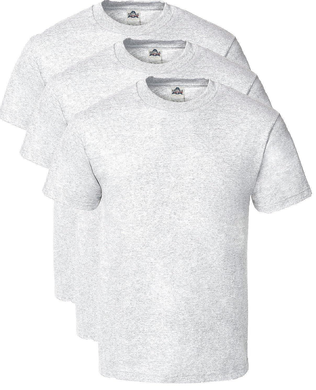 d1215bc60ce Alstyle Men s Cotton Crew Neck Short Sleeve T-Shirt 3-Pack