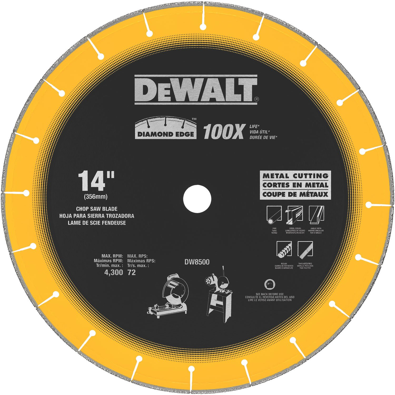 DEWALT DW8500 14-Inch by 1-Inch Diamond Edge Chop Saw Blade