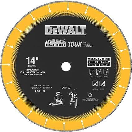 716593eed8 DEWALT DW8500 14-Inch by 1-Inch Diamond Edge Chop Saw Blade ...