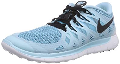 nike free 5.0 womens running shoes blue/black comforter