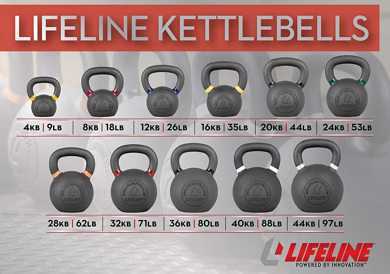 12 kg//26 lb. Lifeline Kettlebell Weight