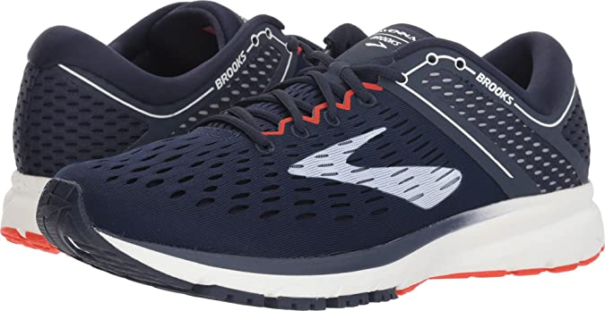 Brooks Men's Ravenna 9 Road Running Shoes Navy/White/Orange - 12D