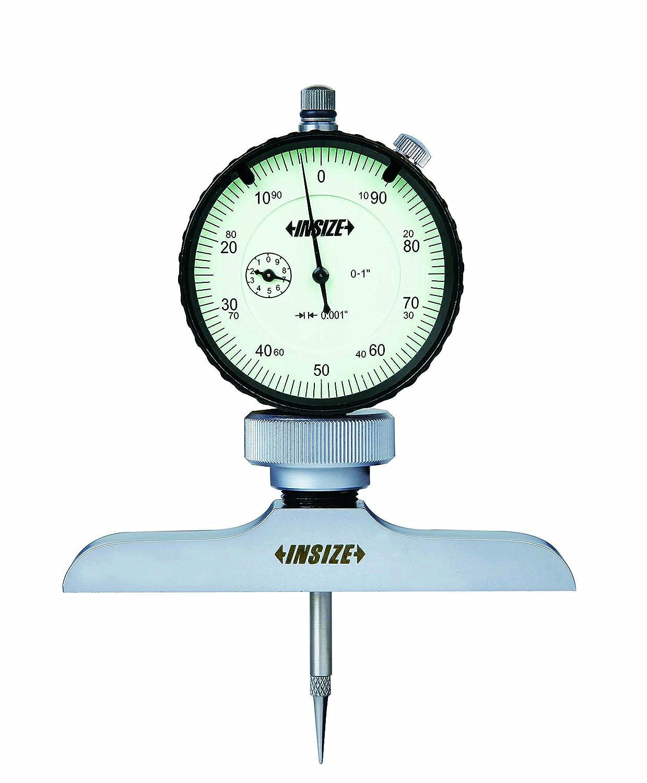 INSIZE 2341-2E2 Dial Depth Gage, 0.001' Dial Indicator Graduation, 0' - 12' 0.001 Dial Indicator Graduation 0 - 12