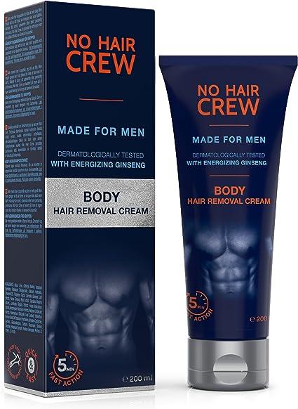 NO HAIR CREW Crema Depilatoria Corporal Premium Masculina – Hecha ...