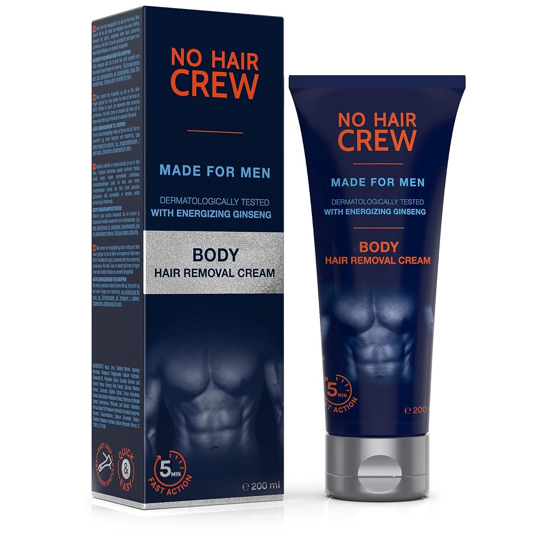 NO HAIR CREW Crema Depilatoria Corporal Premium Masculina – Hecha para Hombres 200 ml Trebeo