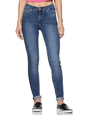 583033073f765 TOMMY HILFIGER Women's Skinny Fit Jeans (P9AJD13126_Side Logo Mid Bl Str_26)