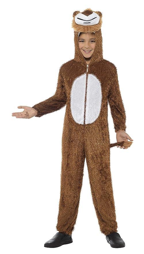 Smiffys Disfraz de león, marrón, incluye enterizo con capucha: Amazon.es: Juguetes y juegos