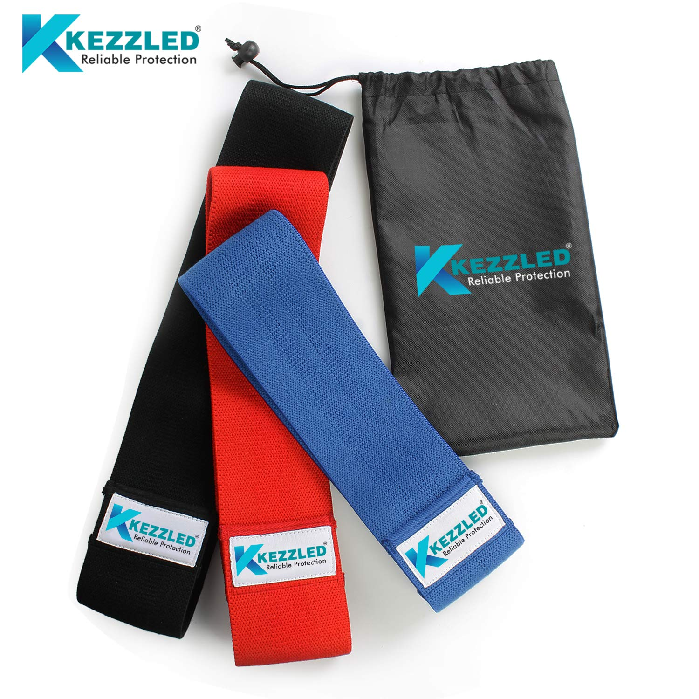 Kezzled レジスタンスワークアウトヒップ/ブーティーエクササイズバンド - バンド3本セット   B07L41XFCH