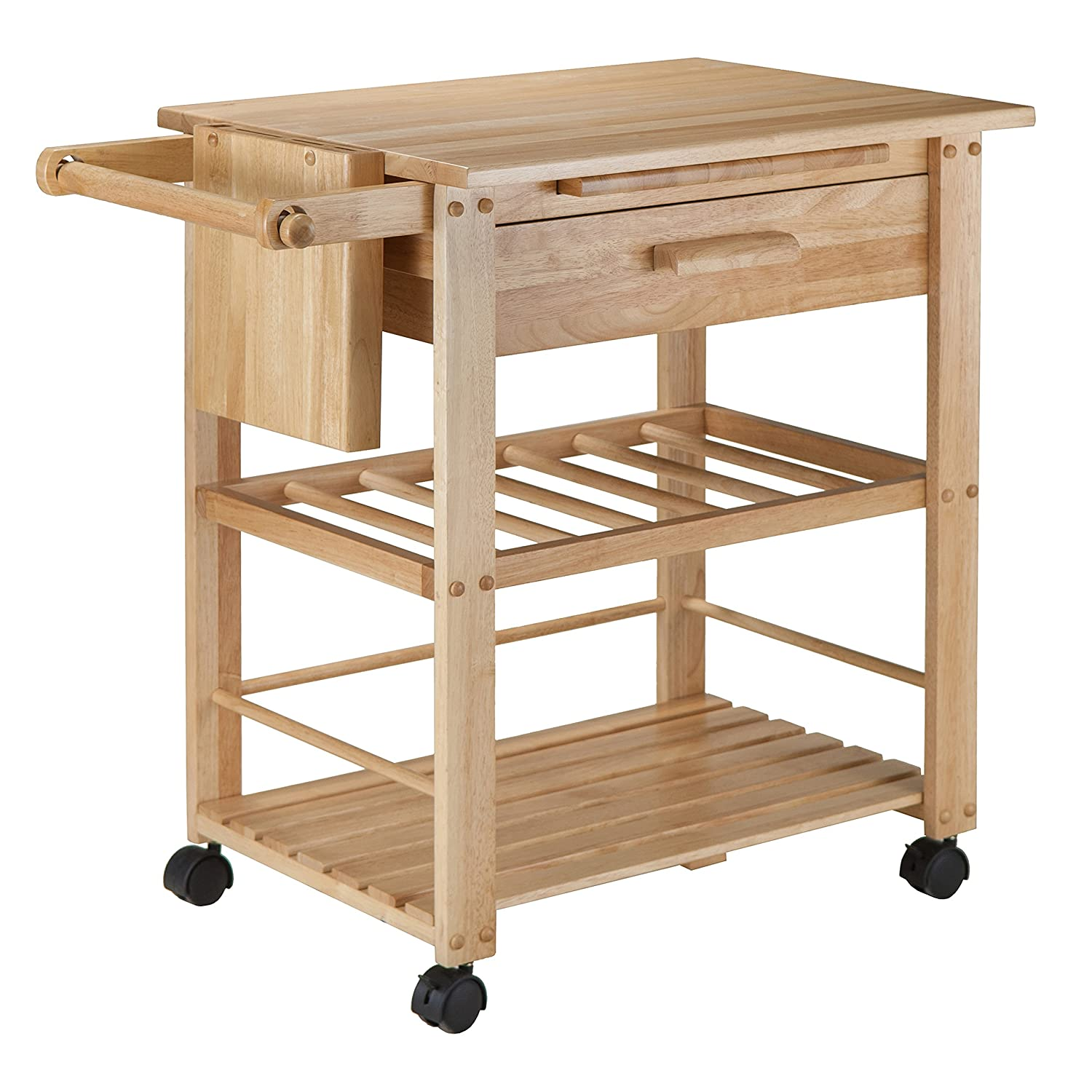 Amazon.com - Winsome Wood Finland Kitchen Cart - Kitchen Islands ...